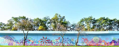 Metaform Mural on Columbia Avenue
