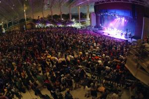 A crowd enjoys music at the CMAC Concert Center in Geneva