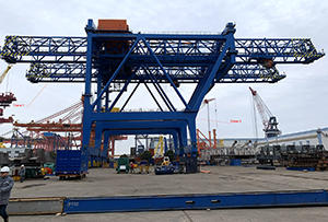 Two Super-Post-Panamax Gantry Cranes are being constructed in China.