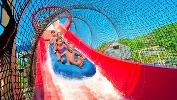 Splish Splash water park red slide