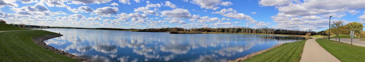 Panoramic View of Lake Andrea