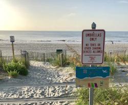 CheckMyBeach.com signage at beach access