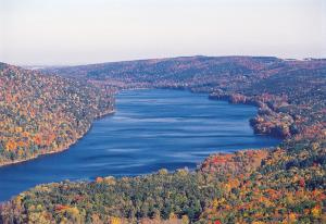 Canadice lake as seen from the air
