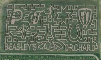 The 2018 Corn Maze Design at Beasley's Orchard