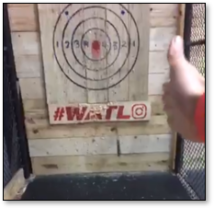Axe Throwing at Autobahn Manassas Mall