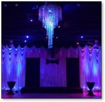 Fabriek Event Center interior with purple lighting