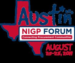 Austin NIGP Forum Connecting Procurement Communities August 25 thru 28 2019 Logo