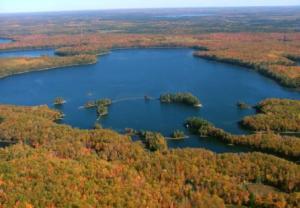Aerial lake view