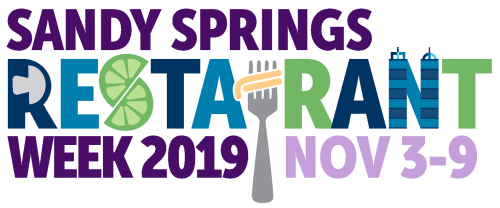 Logo for Sandy Springs Restaurant Week 2019