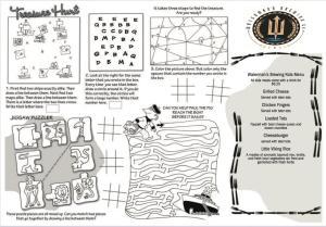 Watermans Brewing kids menu