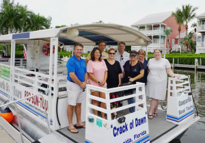 Group tour aboard Gasparilla Boat Tours boat