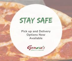 Genova's Covid Stay Safe Flyer