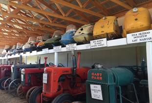 Tractor Shed with Snowmobile Display