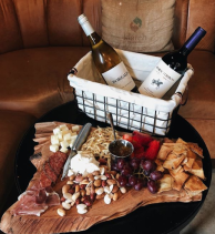 The Tipsy Bean wine and cheese platter