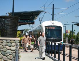Seattle Transportation Solutions Light Rail Train