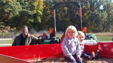 There will be hayrides at the Fall Colors Festival! (Credit: Meghan Stritar)