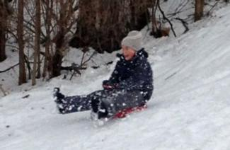 Once the snow arrives, sledding becomes a popular attraction.