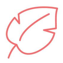 Peach leaf icon