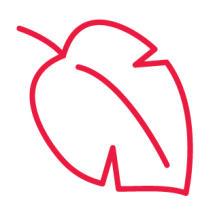 Red leaf icon