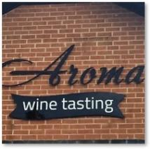 Aroma Wine Tasting Downtown Haymarket signage
