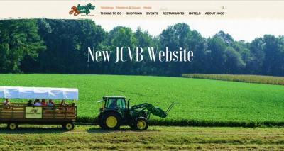 The homepage for the new JCVB website.