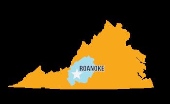 Roanoke Virginia's Blue Ridge Map