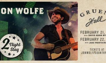 "Jon Wolfe: ""Live at Gruene Hall"" Album Release"