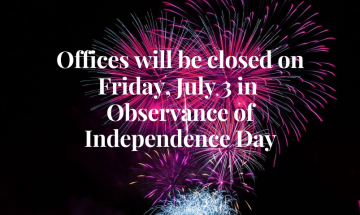 Closed in Observance of Independence Day