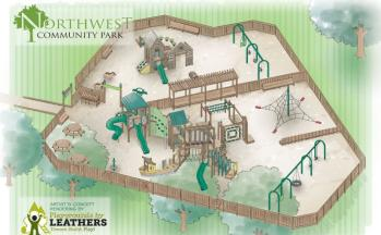 Rendering of the new playground coming to Northwest Community Park in Brownsburg on June 9.