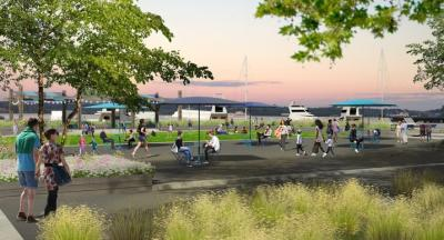 Rendering of New Waterfront Park