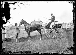 5 Two wheel Irish Jaunting Car c 1890
