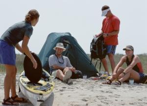 Beach campers
