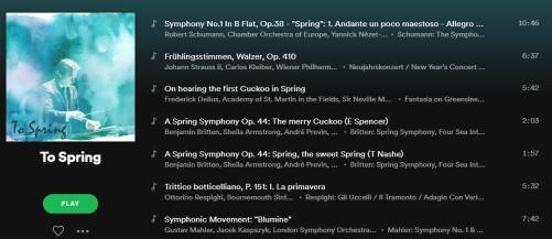 Symphony Spotify Playlist
