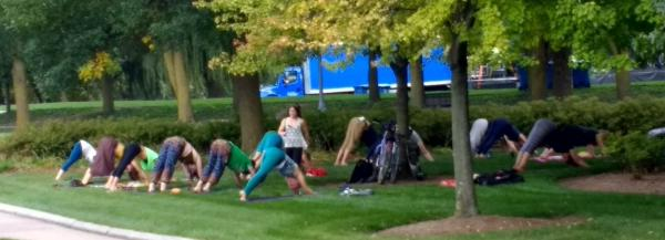 Yoga in Headwaters Park - Fort Wayne, IN