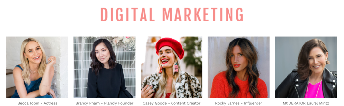 StyleweekOC 2019 Digital Marketing Panel