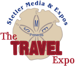 "Logo for Villages Travel Expo (Stetler Media & Expos) ""The Travel Expo"""