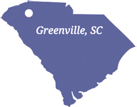 Greenville, SC Map