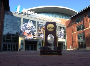 NCAA Volleyball Trophy at Nationwide Arena