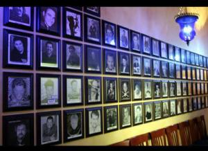 Photo wall at Visani Comedy Theater