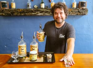 Tasting rum Outer Banks Distilling, Kill Devil Rum, Manteo, North Carolina