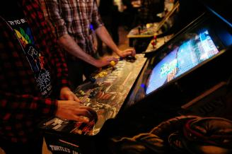 Happy Hour at I/O Arcade Bar