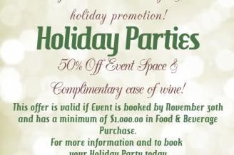 Host a Holiday Party at Wyndham Garden!