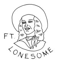 Fort Lonesome Logo with cowgirl