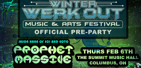 Flyer for Winter Werk Out Pre-Party concert