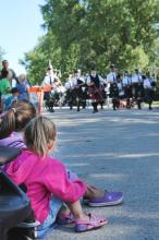 Parade at the Kleefeld Honey Festival in Manitoba