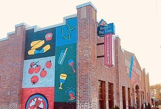 Exterior of Benny's Big Time Pizzeria