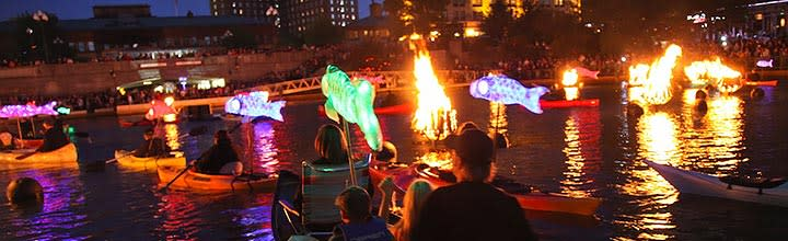 WaterFire koi fish