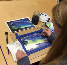 Wine Painting Party at Wild Center