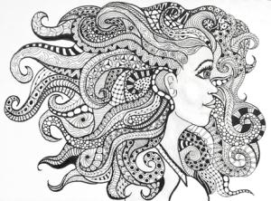 Lynne Medsker Coloring Sheet - Face