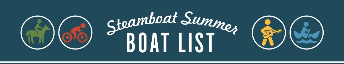 Steamboat Summer Boat List